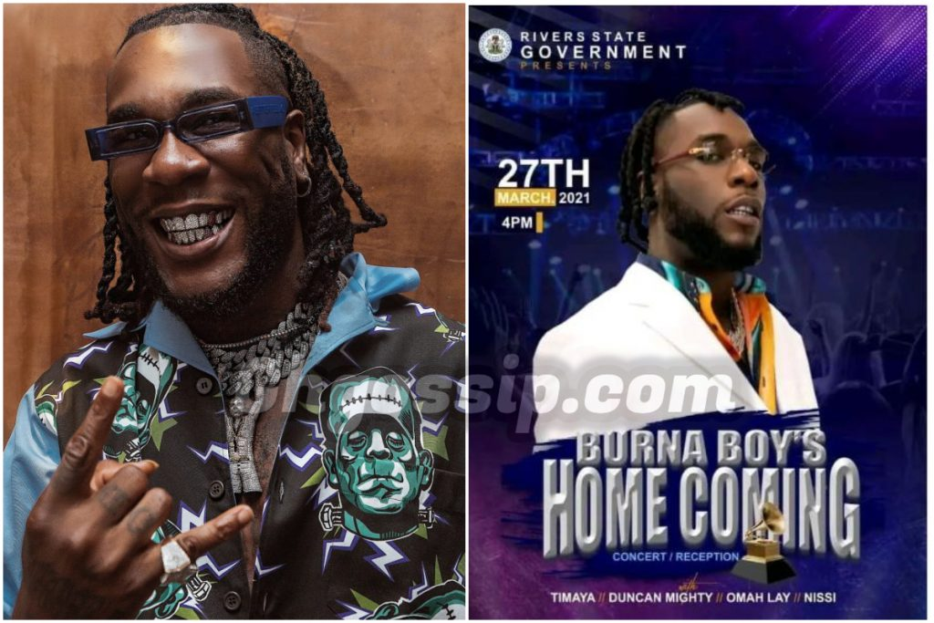 Burna Boy Allegedly Charged River State Gov