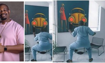 Moment Don Jazzy Twerks to Rema Bounce