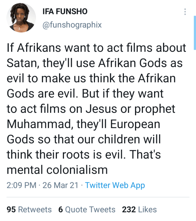 Stop Portraying African Gods As Evil – Traditionalist Warns Filmmakers1 1