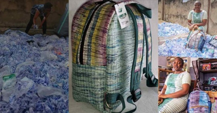 bags made from sachet water waste