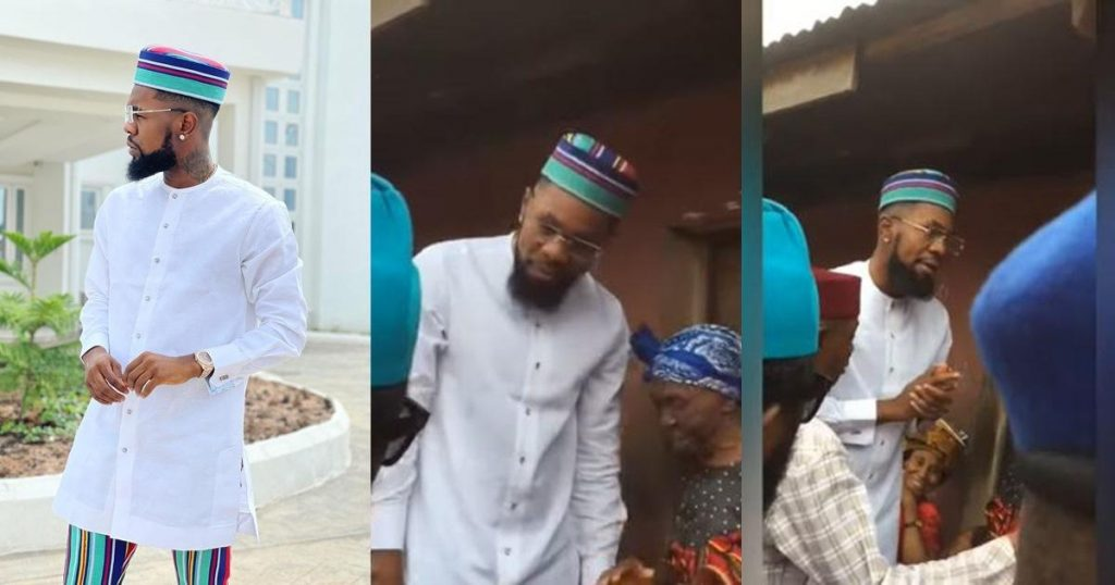 Patoranking Reunites With His Grandmother