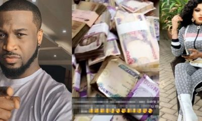 Peter of Psquare And Others React As Bobrisky Shares His bank Account Balance of Almost N1Billion