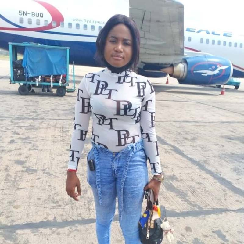 Chioma jesus in the airport