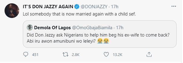 Don jazzy answer more question about ex wife