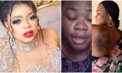 Lady who tattoed Bobrisky on her body now homeless begs for help