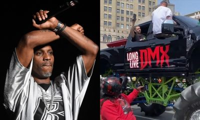 Monster truck carries DMX casket as thousands of bikers escort his remains to Brooklyn
