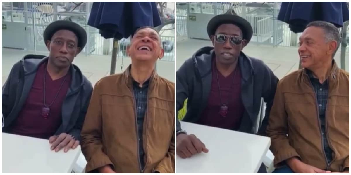 Wesley Snipes Speaks Yoruba as He Hangs out with Ben Murray-Bruce
