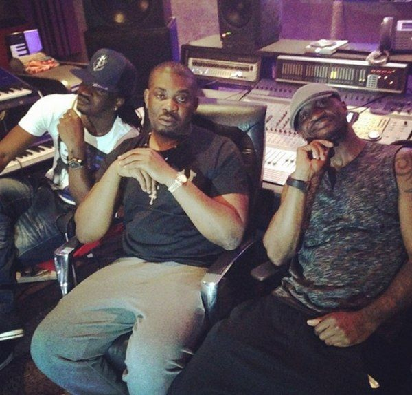 Don Jazzy in the studio with psquare