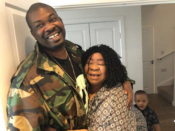 Don Jazzy having a laugh with his lovely mom