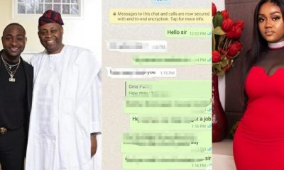 Nigerians react to alleged leaked Chat between Davido and his father about Chioma (Photo)
