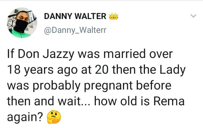 man claims Rema is DonJazzy's son