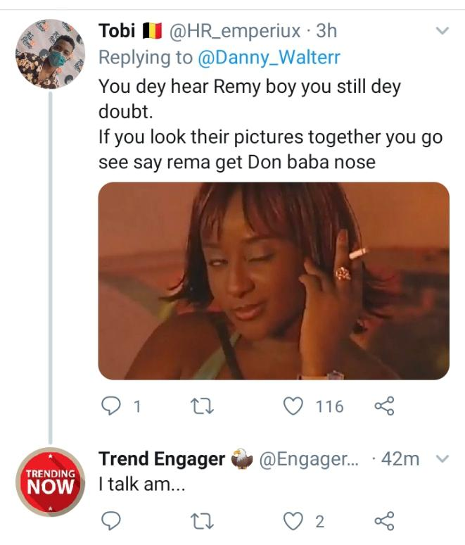 more reaction as man claims Rema is DonJazzys son