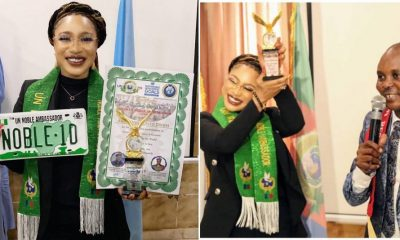 Tonto Dikeh reacts after her ambassadorial award was tagged fake