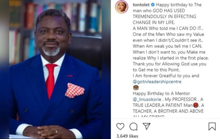tonto dikeh shows face of the man who changed her life for the first time photo