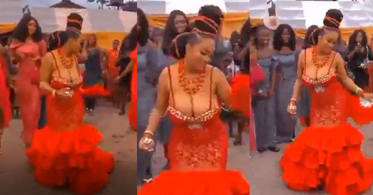 Bride Bares Massive Cleavage In Revealing Outfit At Her Wedding