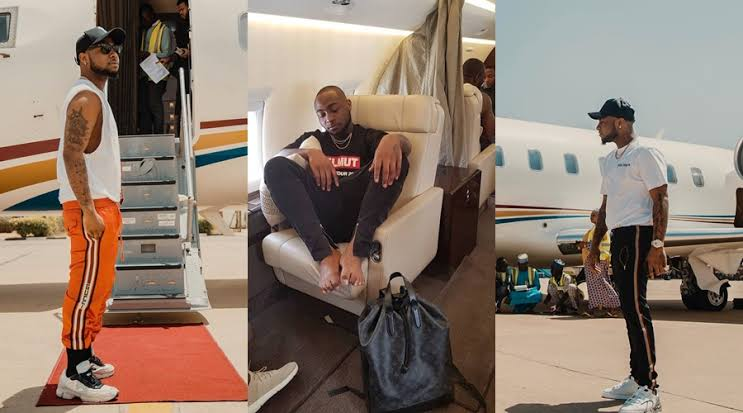 Davido Bans Crew From Boarding His Private Jet