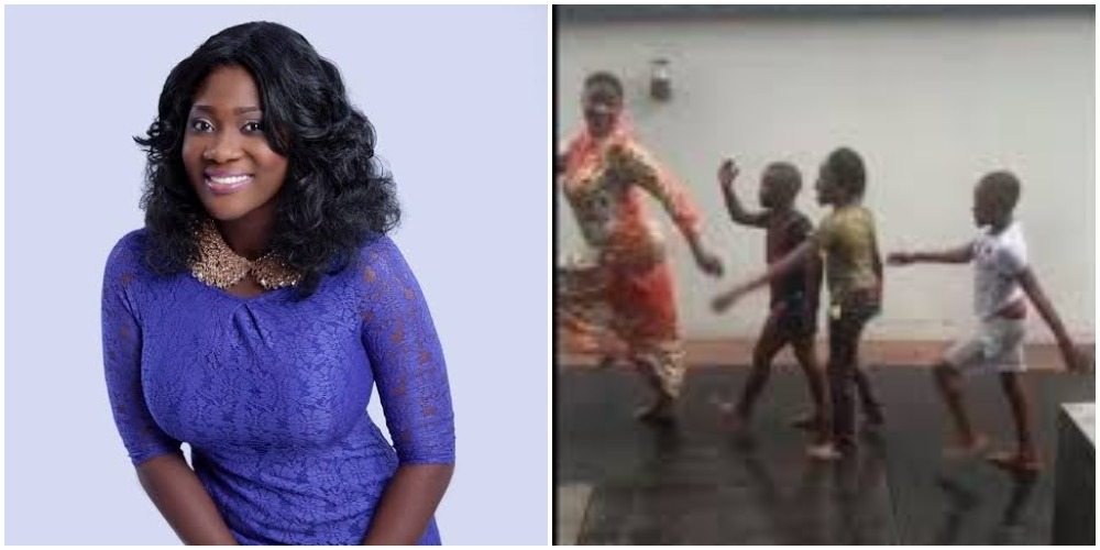 Mercy Johnson Spotted Playing With Her Children