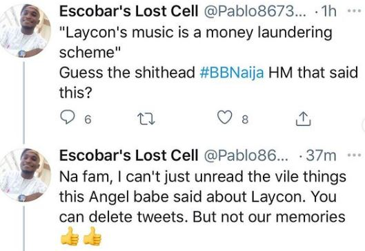 Fans dig up old posts of Angel trolling Laycon